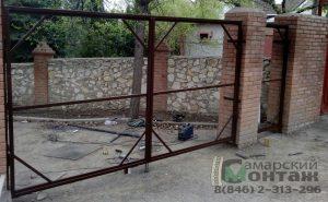 каркас ворот и калитки под профлист