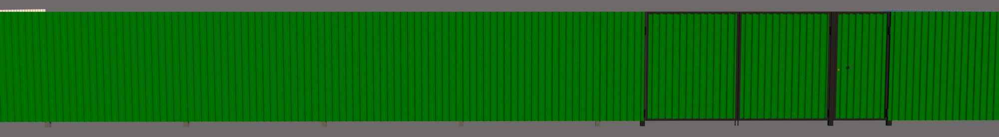 ворота и забор профлист фронт