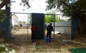 ворота-распашные установка