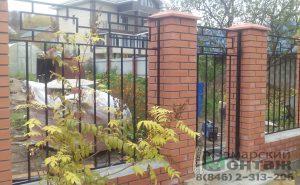 сварной забор с калиткой