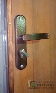 техническая дверь с облицовкой