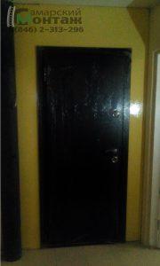 монтаж двери в перегородку
