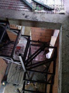 изготовление сварных каркасов лестниц