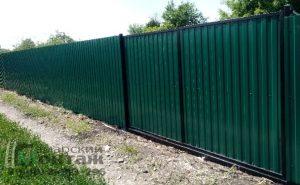 забор профлист с воротами