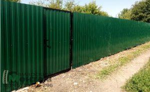 забор профлист с калиткой