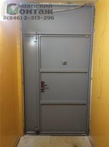 двустворчатая тамбурная перегородка с дверью