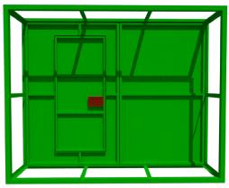 Металлические сварные ворота.