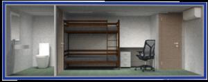 бытовка вагончик вахтовая с туалетом тамбуром и письменным столом