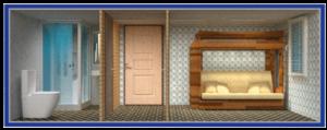 бытовка с тамбуром вахтовая с душем и туалетом