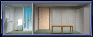 бытовка раздевалка с душем и туалетом