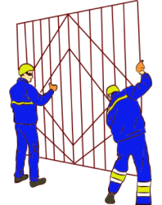 установка решеток оконных